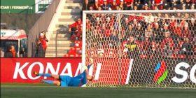 Përfundon pjesa e parë,  Shqipëri-Armeni 0-1