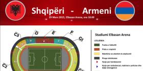 Shqipëri-Armeni, dalin në shitje biletat