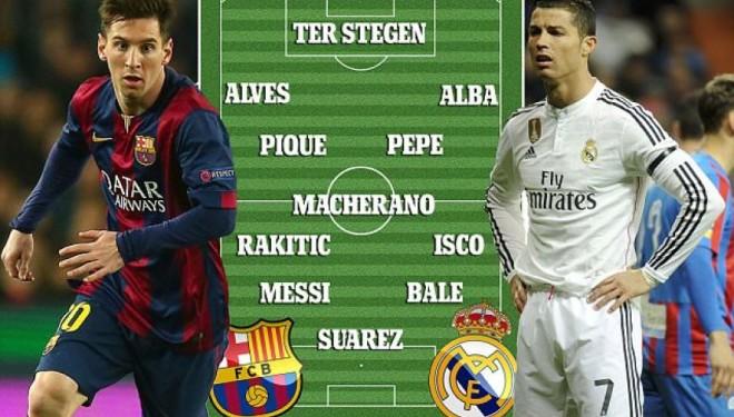 Formacioni i El Clasicos pa Ronaldon
