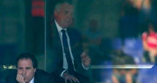 Barcelona kampione, Ancelotti qetësohet me cigare (Video)