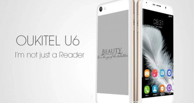 Oukitel U6, telefoni inteligjent me dy ekrane