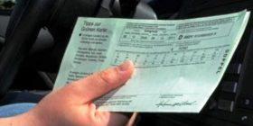 Në mungesë të Kartonit të Gjelbër, 250 € polica mujore e sigurimit