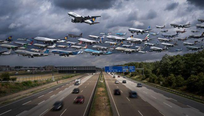 Foto të pabesueshme të trafikut ajror nëpër botë