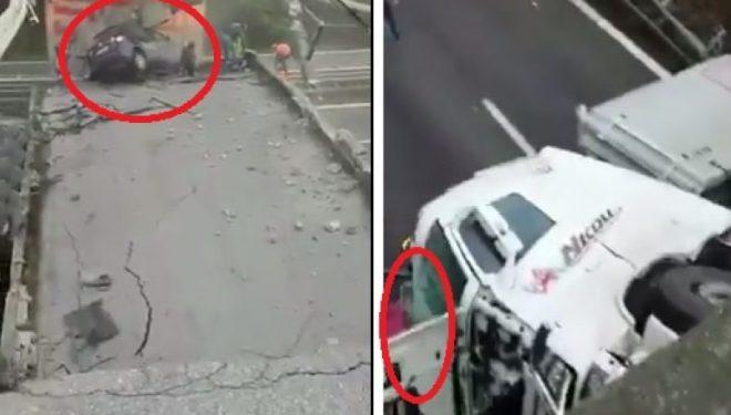 Aksident tragjik në Itali, shembet mbikalimi në autostradë (Video)