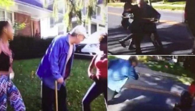Adoleshentja godet të moshuarin me grusht në fytyrë (Video)