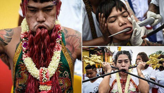 Rituali i tmerrshëm tajlandez (KUJDES! Pamje të rënda)