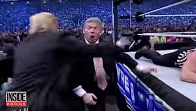 Shikoni si e hedh përtoke Trump një pjesmarrës në Wrestling (Video)