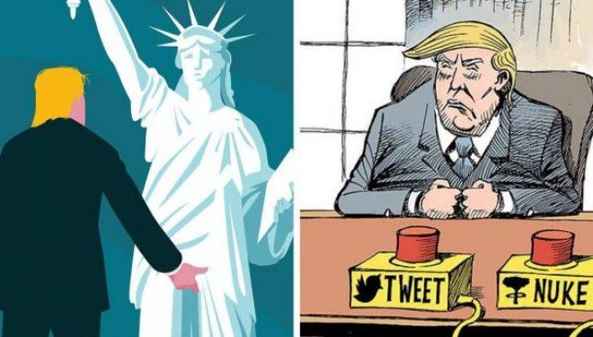 Kështu u ndjenë karikaturistët nëpër botë pas fitores së Trump (Foto)