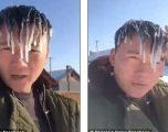 Temperaturat ekstreme, të riut nga Kina i ngrijnë flokët