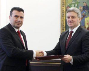Zaev ia dorëzon presidentit nënshkrimet, kërkon t'i ndahet shpejt mandati
