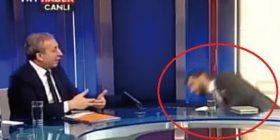 Foto-Video/ Gazetarit i bie të fikët në transmetim live