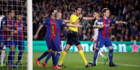 UEFA nuk e suspendon gjyqtarin që ndihmoi Barcelonën në ndeshje me PSG