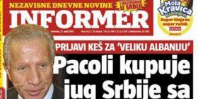 """Gazeta serbe: Pacolli po e blen jugun e Serbisë, tregon edhe """"çmimin"""" (Foto)"""