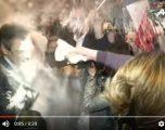 Kandidatin për president të Francës e sulmojnë me miell në tubim (Video)