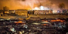 Francës i zhduken 600 migrantë pas zjarrit në kamp