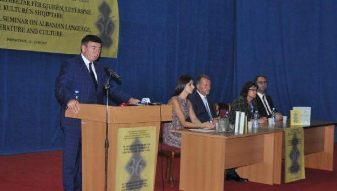 Bajrami: Seminari për gjuhën do të kontribuojë në ndërkombëtarizimin e studimeve albanologjike