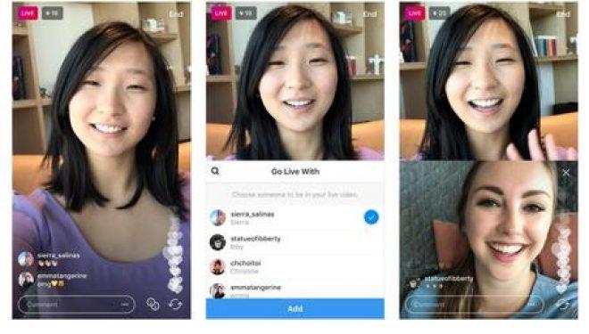 Instagram, video direkte me miqtë
