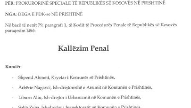 PDK me kallëzim penal për punësimet e kundërligjshme të Vetëvendosjes (Dokument)