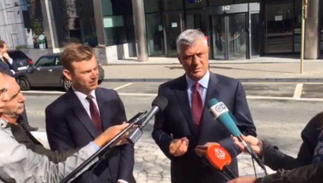 Thaçi flet pas takimit me Vuçiqin, tregon si do të vazhdohet dialogu