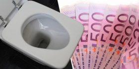 Në Gjenevë, eurot rrjedhin edhe nëpër guaca të tualeteve