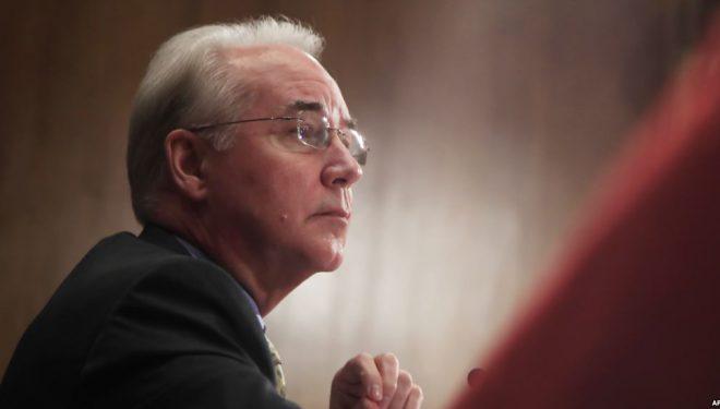Dorëheqja e Sekretarit të Shëndetësisë, Tom Price