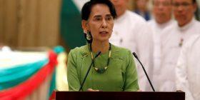 """Aung San Suu Kyi dënon """"terroristët"""", hesht për eksodin"""