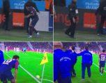 Neymari mezi e ekzekutoi goditjen nga këndi, fansat e Marseilles hedhin gjësende drejt brazilianit (Video)