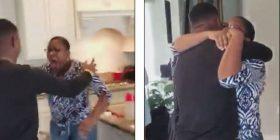 Marinsi amerikan befason të ëmën që nuk e kishte parë 15 muaj, i shfaqet para derës së shtëpisë pa kurrfarë paralajmërimi (Video)