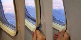 Pasagjeri që po udhëtonte me aeroplan, mbeti i habitur kur pa se korniza e dritares po lëvizte (Video)