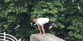 I riu bën rrotullime dhe hedhje të rrezikshme (Video)