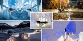 Hotelet më të ftohta në botë: Brenda tyre gjithçka është e ndërtuar nga akulli – madje edhe shtretërit (Foto)