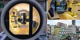 Arkitekti shndërron gypat e ujit në shtëpi praktike për dy persona, brenda të cilave nuk mungon asgjë (Foto/Video)