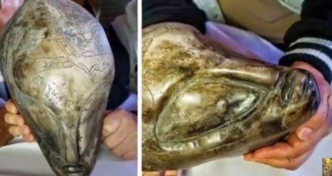 Fakte për alienët? Në shpellën misterioze zbulohen skulptura të çuditshme (Foto/Video)