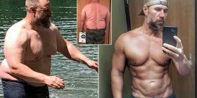 Babai i tre fëmijëve që dikur peshonte 127 kilogramë, arriti të transformohet brenda 6 muajve – sot duket shumë më i ri (Foto)