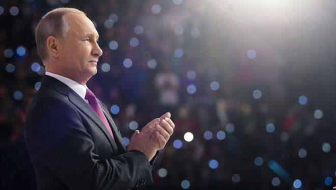 Nëse votoni për Putinin, fitoni një iPhone
