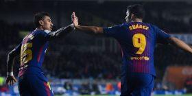Sociedad 2-4 Barça, shkëlqejnë Suarez – Messi
