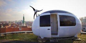 Shtëpi në formë veze që prodhon rrymë dhe mund të transportohet lehtë me helikopter (Foto)