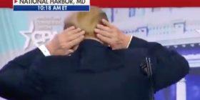 """Trump bën shaka në lidhje me flokët e tij: """"Përpiqem si dreqi për të fshehur atë vend tullac"""" (Video)"""