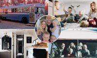 Familja pesëanëtarëshe heq dorë nga shkollimi dhe shtëpia luksoze, për të udhëtuar nëpër SHBA me autobusin e shndërruar në shtëpi me rrota (Foto)