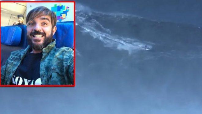 Futet në librin e rekordeve Guiness, bën surf mbi dallgën 24 metra të lartë (Video)