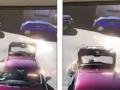 Vajza shtyp aksidentalisht frenin e dorës, vetura lëviz prapa dhe për pak sa nuk shtypet për vdekje babai i saj (Video)