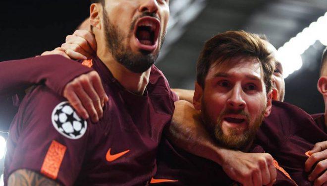 Messi shënon gol të bukur pas asistimit të mrekullueshëm të Suarezit