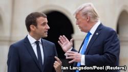 Presidenti i Francës, Emmanuel Macron dhe ai i SHBA-së, Donald Trump