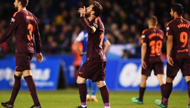 Messi në histori të La Ligas, i vetmi futbollistë që shënon mbi 30 gola në shtatë sezone