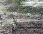 Majmuni i vogël ngec në gropën mbi 10 metra të thellë, fshatarët e shpëtojnë duke i hedhur litar (Video)