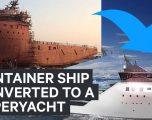 Anijen e vjetër transportuese e shndërruan në jaht luksoz (Video)