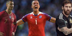 Statistikat dëshpëruese të Messit dhe Ronaldos ndaj Islandës