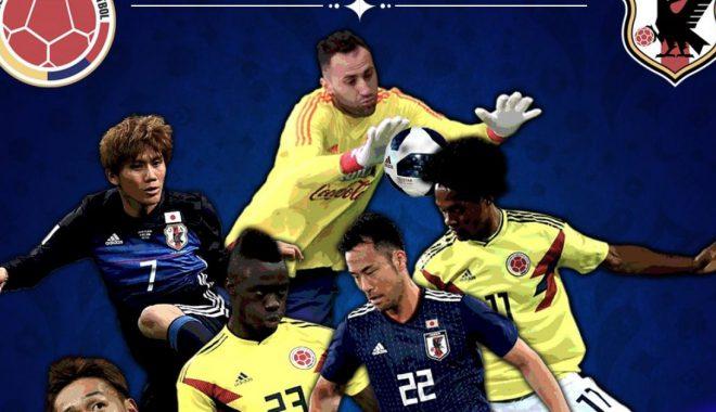 Kolumbi – Japoni, formacionet zyrtare