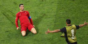 Ronaldo gjeti golin nga gjuajtja e lirë pas 45 tentimeve në garat e mëdha