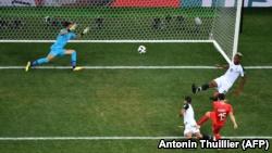 Blerim Xhemajli, me prejardhje nga Tetova, po ashtu ka shënuar gol për Zvicrën në ndeshjen kundër Kosta Rikës